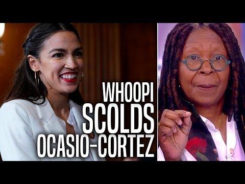 Whoopi Goldberg Condescendingly Scolds Ocasio-Cortez in Bizarre Rant