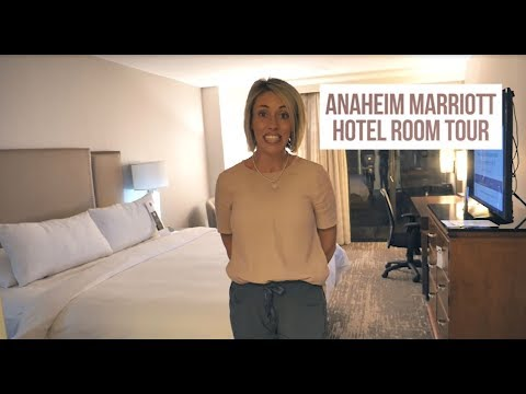 Anaheim Marriott Hotel Room Tour
