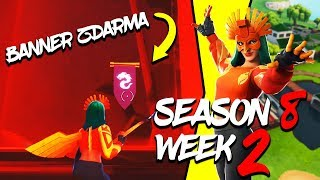 WHERE is the FIRST FREE BANNER for the SEASON 8 (Week 2)-Fortnite Battle Royale CZ/SK
