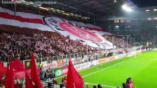 Support-Impressionen FC St. Pauli (DFB-Pokal vs. Borussia Dortmund) inkl. Pyro-Einlage