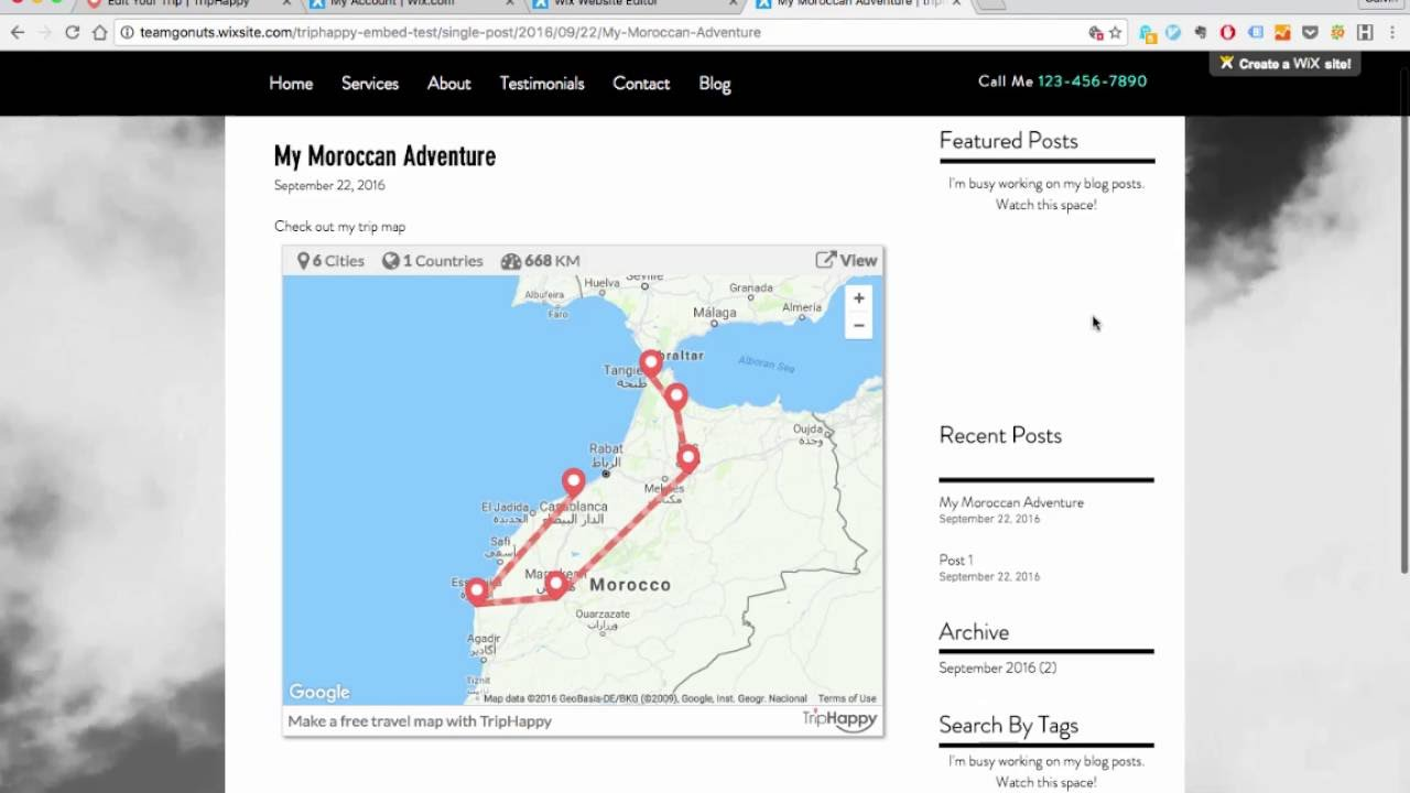 how to embed a custom trip map on your wix blog