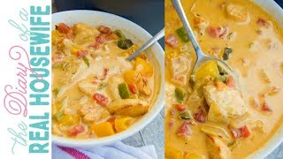 Cheesy Chicken Fajita Soup | The Diary of a Real Housewife