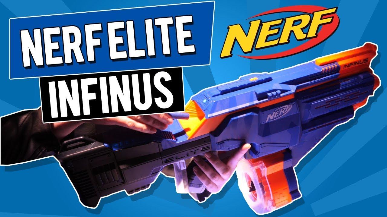 2018 NERF N-STRIKE ELITE INFINUS Blaster - YouTube