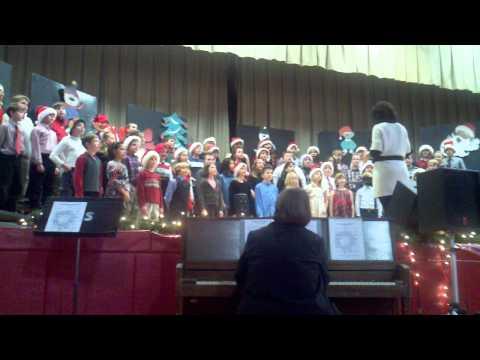 Fairbank Elementary school 4th grade Christmas program 2010