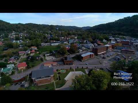 Hazard Kentucky Fall video by Drone