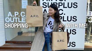 A.P.C. 아페쎄 서플러스 아울렛 매장에서 세일 제품…