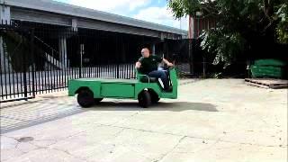 Sold! 2006 Cushman Titan 36v-dc Electric Utility Cart Flatbed Bidadoo.com