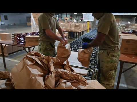 Arizona Guard Serves Yuma Food Distribution Warehouse
