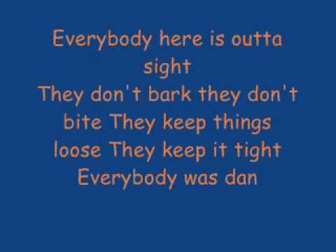 Dancing in the moonlight - toploader (lyrics)