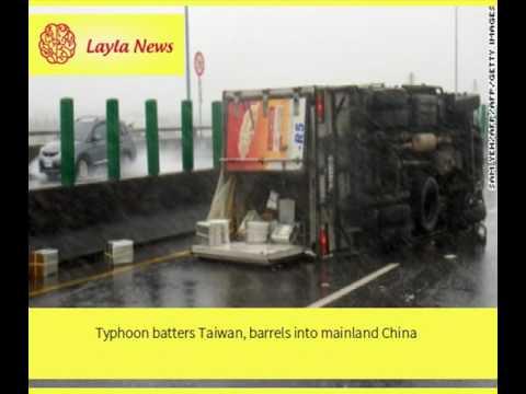Typhoon batters Taiwan, barrels into mainland China |  By : CNN