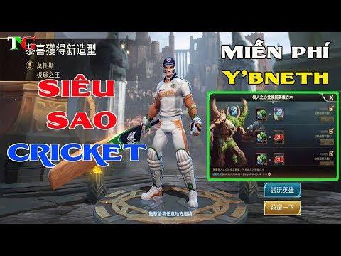 Tướng mới Y'Bneth Miễn phí server chính Trang phục mới siêu sao cricket arthur liên quân mobile