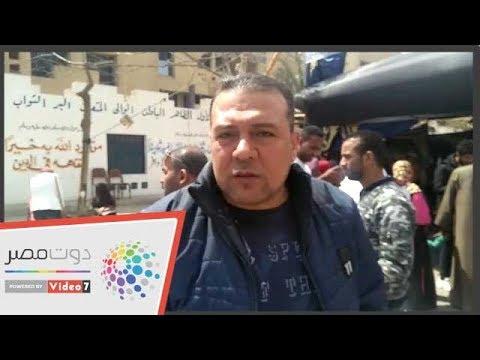 الفنان عبدالحميد سند عقب الإدلاء بالاستفتاء: -بنعمل الصح -  - 11:55-2019 / 4 / 21