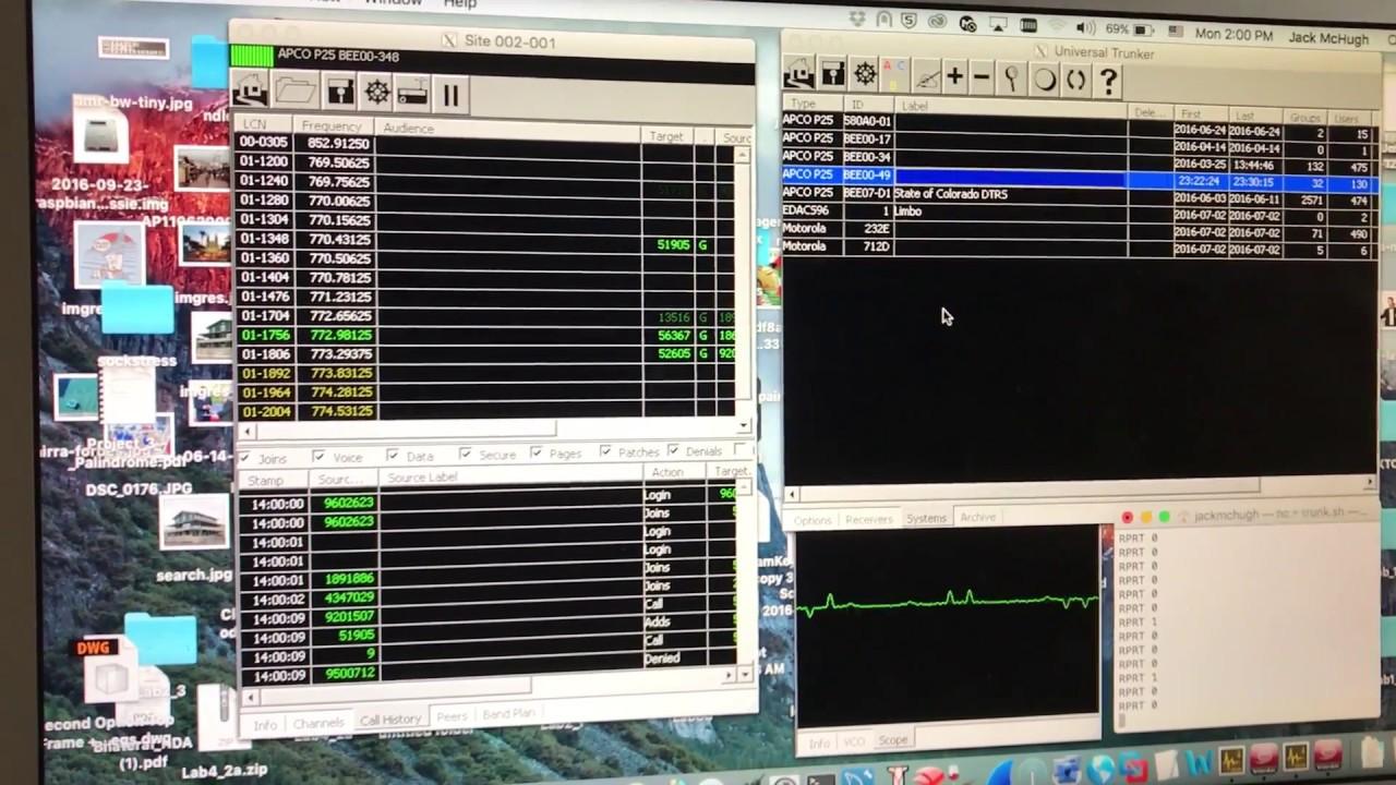 Unitrunker on OSX