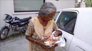 Mujer india de 70 años da a luz a su primer hijo