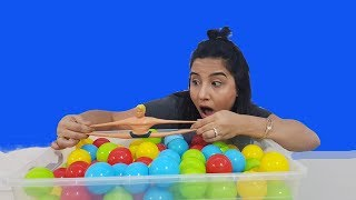 STRETCH ARMSTRONG COLORED BALL POOL Al Pretend Found Armstrong in Ball Pit