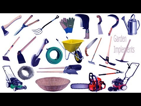 Garden Tools Name & Image | English & Bengali Meaning With Phonetic Symbol | English Vocabulary