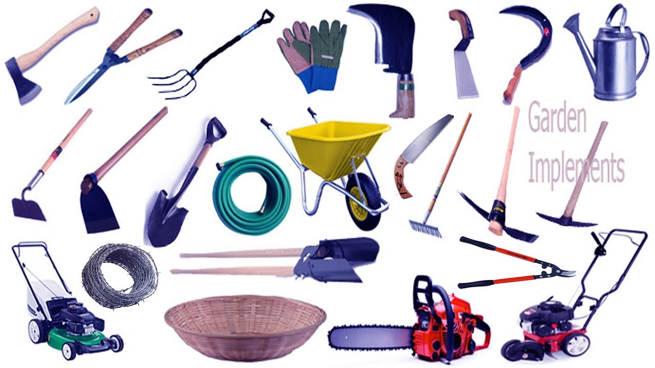 Garden Tools Name & Image | English & Bengali Meaning With Phonetic Symbol  | English Vocabulary