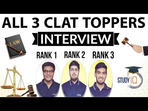 CLAT Toppers AIR 1, 2 & 3 - All three toppers together discussing their Journey & Strategy for CLAT