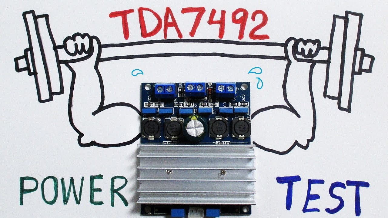 TDA7492 class D audio amplifier board power test