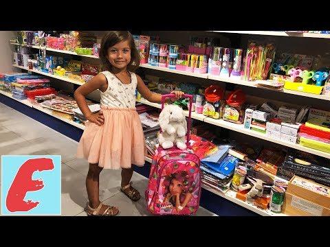 """ემილია ემზადება სკოლისთვის. ვარჩევთ ბაღისთვის და სკოლისთვის ფერად-ფერად ნივთებს """"ბიბლუსში"""""""