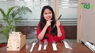 Unboxing: AmazonBasic's Stainless Steel Knife Set With Block, 9 Pieces