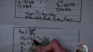 Thermodynamics: Simple Ideal & Non-Ideal Brayton Cycles (24 of 25)