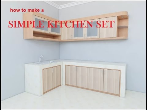 How To Make A Simple Kitchen Set With Sketchup Cara Membuat Kitchen