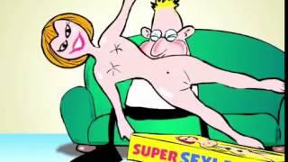 Nackte Frau aufblasen
