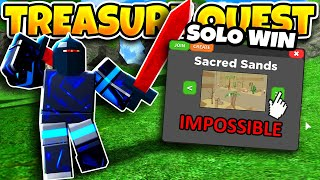 How to Beat Sacred Sands *SOLO* IMPOSSIBLE Difficulty | Roblox Treasure Quest