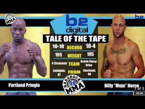 Hardrock MMA 99 Fight 12 Portland Pringle vs Billy Mojo Horne 185 PRO Title