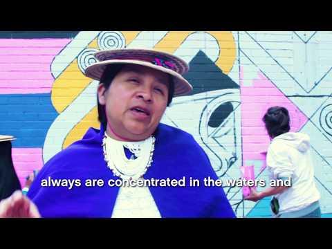 The making of Mural Art in Bogotá: Misak Misak