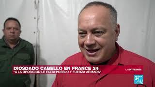 """Diosdado Cabello en France 24: """"¿De qué le ha servido a Francia y a otros países reconocer a Guaidó?"""