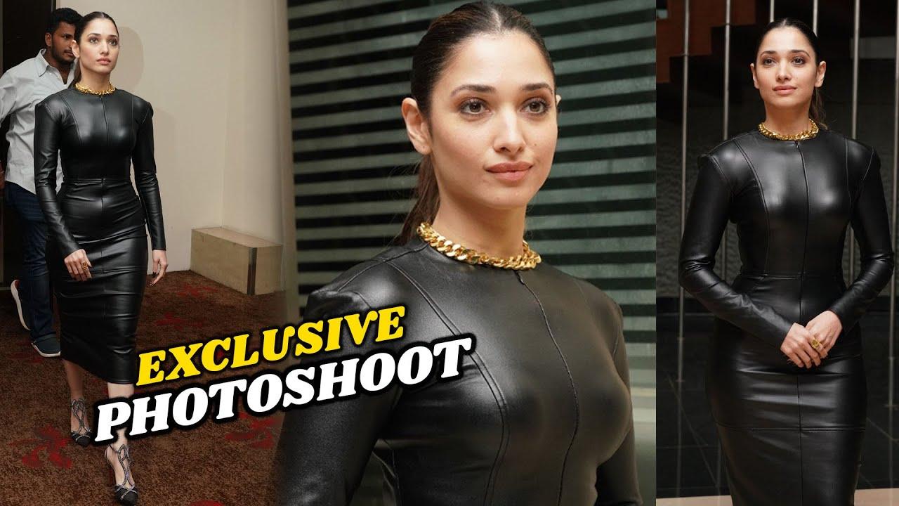 Download Actress Tamanna Hot Photoshoot In Tight Black Dress || # Tamanna || TFPC