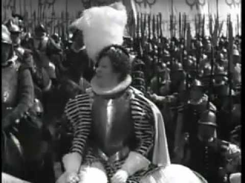 Queen Elizabeth I rallies her troops to face the impending Spanish invasion, 1588
