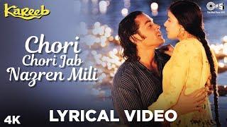 Chori Chori Jab Nazrein Mili Lyrical Kareeb | Kumar Sanu & Sanjivani | Bobby, Neha & Moushumi