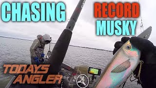 Chasing Record Muskie Part 1 - Giant Located - Todays Angler