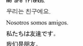 English/Korean/Spanish/Japanese/Chinese - some phrases