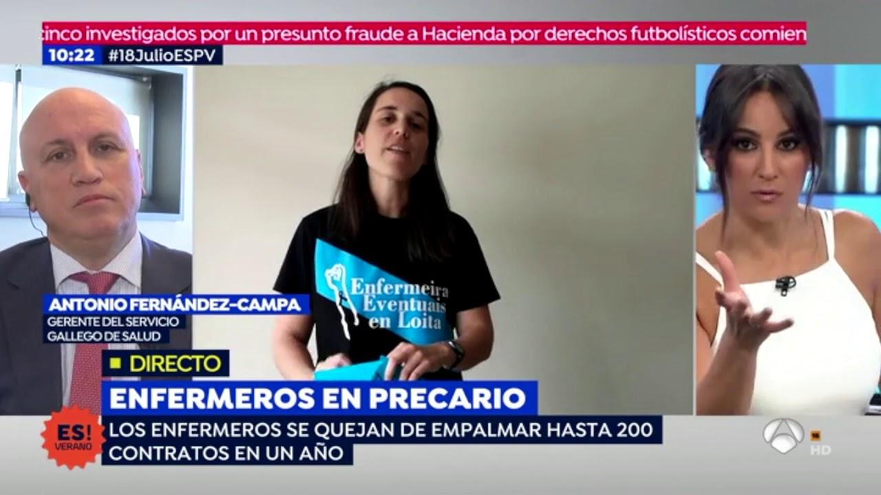 Fernández-Campa á defensiva en Espejo Público. Nos contraatacamos