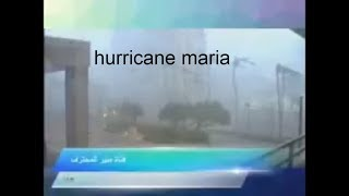 Live Hurricane Maria plays all her way to Puerto Rico 😩 terrifying