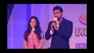 Dev and Koel giving away the PC Chandra Awards