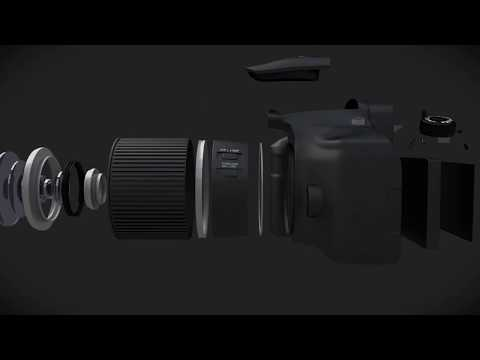 Graphickly Product Animation - Canon 60D 360° Rotation With Exploded Details