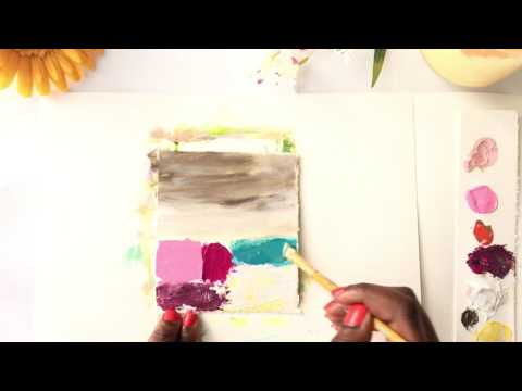 Abstract landscape painting ( step by step for beginners)