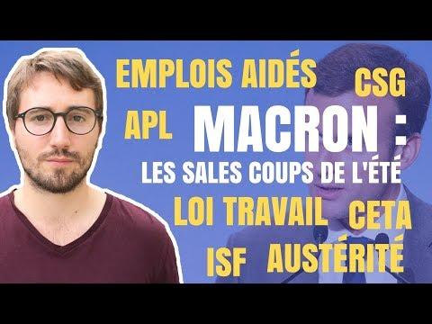 MACRON : LES SALES COUPS DE L'ÉTÉ - Le Bon Sens