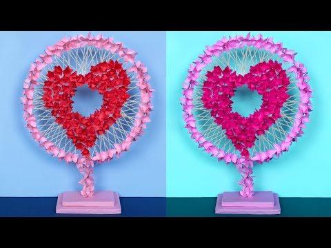 DIY Unique Heart Showpiece Idea   Handmade Craft   DIY Project