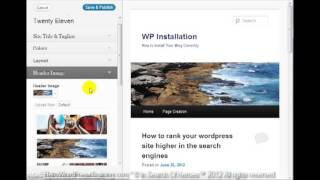 Babyboomer WordPress Training Video #15 Customize Themes In Search Of Heroes