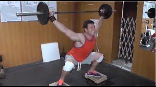 Уникальное упражнение из СССР   Рашид Ицаев  Тяжелая атлетика Weightlifting