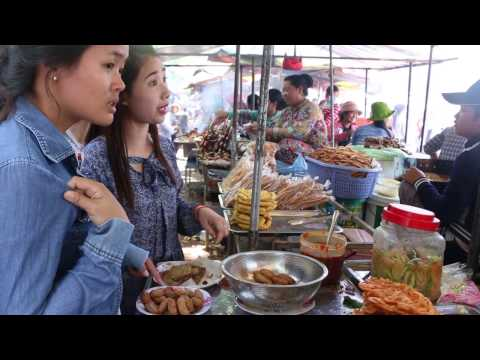Asian Street Food, Cambodian Street Food Compilation At Oudong Resort