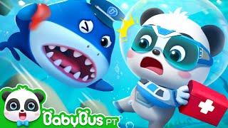 Super Equipe de Resgate Salva Chefe Tubarão | Super Equipe de Resgate | Animação | BabyBus Português