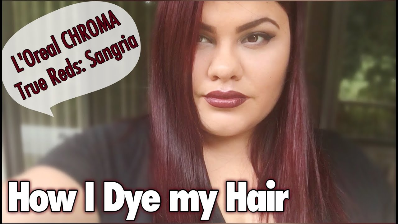 dye hair l'oreal chroma