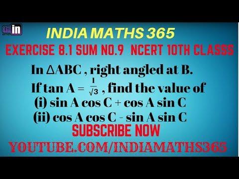 Sum 9 , 10th class maths in hindi medium by India Maths 365